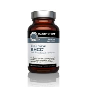 Quality of Life Labs Kinoko Platinum AHCC, 750 mg, 60 Vcaps