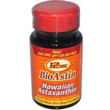 Nutrex BioAstin, 12mg, 25 gels, astaxanthin