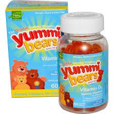 Hero Yummi Bears Vitamin D-3, 60 Yummi Bears