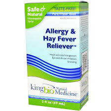 King Bio Allergy & Hay Fever Reliever, 2 fl oz
