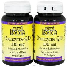 Natural Factors Coenzyme Q10, Twin Pack, 100mg, 60 softgels