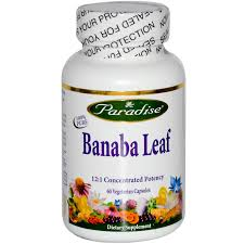 Paradise Herbs Banaba Leaf, 250mg, 60 Vcaps