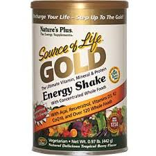 Nature's Plus Source of Life GOLD Energy Shake, Tropical Berry, 442 gm