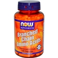 NOW Branch-Chain Amino Acids, 800mg, 120 caps