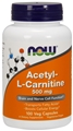 NOW Acetyl L-Carnitine, 500mg, 100caps