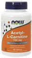 NOW Acetyl L-Carnitine, 750mg, 90 tabs