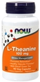 NOW L-Theanine, 100mg, 90 Vcaps