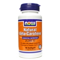 NOW Natural Beta Carotene, 25,000IU, 90 gels