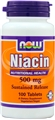 NOW Niacin 500mg, Sustained Release, 100 tab