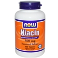NOW Niacin 500mg, Sustained Release, 250 tabs