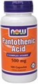 NOW Pantothenic Acid, 500mg, 100 caps