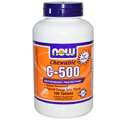 NOW C-500 Chewable Orange Flavor, 100 lozenges