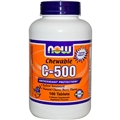 NOW C-500 Chewable Cherry Flavor, 100 lozenges