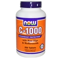 NOW C-1000 with Rose Hips & Bioflavonoids, 250 tabs