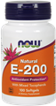 NOW Vitamin E 200 IU, Mixed tocopherols, 100 gels