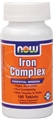 NOW Iron Complex, 100 tabs, Non-Constipating