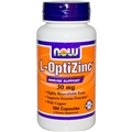 NOW Opti-L-Zinc, 30mg, 100caps