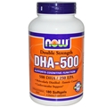 NOW DHA-500, 180 Softgels