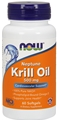 NOW Krill Oil, 500 mg, 60 Softgels