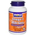 NOW Omega-3 Mini Gels, 180 Softgels