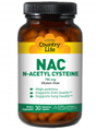 Country Life   NAC 750 mg N-Acetyl Cysteine  60 Vcaps
