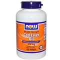 NOW Cod Liver Oil, 650mg, 250 softgels, Double Strength