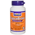 NOW CurcuBrain, 400 mg, 50 V Capsules