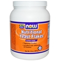 NOW Nutritional Yeast Flakes, Red Star, 10 oz