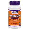 NOW Bromelain, 60 Vcaps, 500mg, 2400 GDU