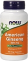 NOW American Ginseng, 500mg, 100 caps