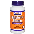 NOW Butchers Broom, 500mg, 100 caps