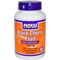 NOW Black Cherry Fruit Extract, 750mg, 90 Vcaps