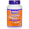 NOW Cinnamon Bark, 600mg, 120 caps