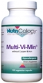 Nutricology  Multi-Vi-Min without Copper & Iron  150 Caps