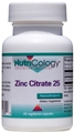 Nutricology  Zinc Citrate 25 Mg  60 Vegetarian Caps