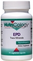 Nutricology  EPD Trace Minerals  75 Vegetarian Capsules
