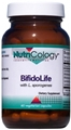 Nutricology  BifidoLife with L. sporogenes  60 Vegetarian Caps