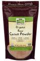 Now- Cacao Powder, Raw & Organic -12 ounce