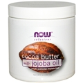 NOW Cocoa Butter with Jojoba Oil, 6.5 fl. oz