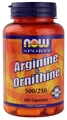 NOW L-Arginine/Ornithine 500/250mg 100 caps