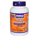 NOW Virgin Coconut Oil softgels, 120 softgels, 1000mg