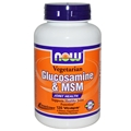 NOW Vegetarian Glucosamine & MSM, 120 Vcaps