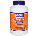 NOW L-Arginine, 500mg, 250 caps