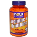 NOW L-Arginine/Ornithine 500/250mg 250 caps