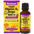 Bluebonnet Liquid Vitamin D3 Drops 2000 IU