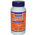 NOW Vitamin D-3, 1000 IU, 180 Softgels