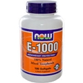NOW Vitamin E 1000 IU, 100 softgels, Mixed Tocopherols