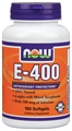 NOW Vitamin E 400 IU, Mixed Tocopherols, with 100mcg Selenium, 100 softgels