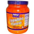 NOW Eggwhite Protein Powder, Unflavored, 1.2 lb