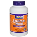 NOW EcoGreen Multi, 180 Vcaps, Iron Free